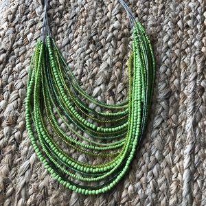 Green statement necklace!